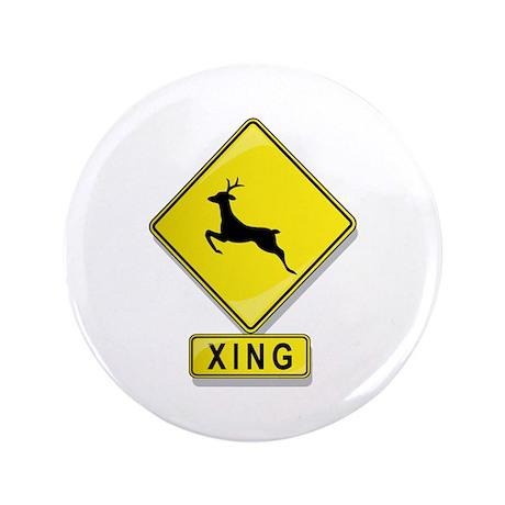 "Deer XING 3.5"" Button"