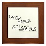 Crop Paper Scissors Framed Tile