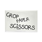 Crop Paper Scissors Rectangle Magnet (100 pack)