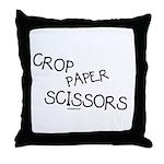 Crop Paper Scissors Throw Pillow