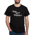 Crop Paper Scissors Dark T-Shirt