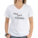 Crop Paper Scissors Women's V-Neck T-Shirt