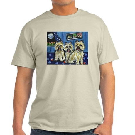 CAIRN TERRIER family moon Des Ash Grey T-Shirt