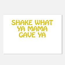 Shake What Ya Mama Gave Ya Postcards (Package of 8