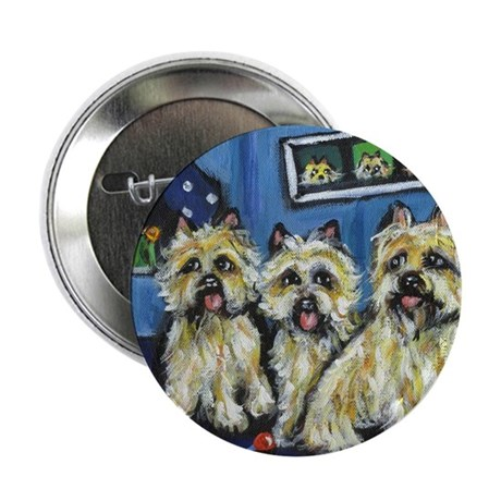 """CAIRN TERRIER family moon Des 2.25"""" Button (100 pa"""
