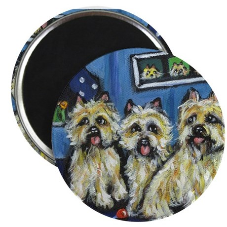 """CAIRN TERRIER family moon Des 2.25"""" Magnet (100 pa"""