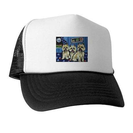 CAIRN TERRIER family moon Des Trucker Hat