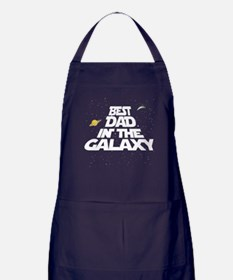 Best Dad in the Galaxy Apron (dark)