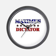 MAXIMUS for dictator Wall Clock