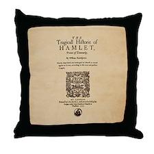 Hamlet Quarto (1605) Throw Pillow