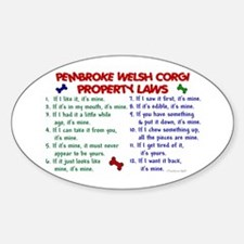 Pembroke Welsh Corgi Property Laws 2 Decal