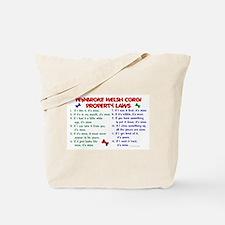 Pembroke Welsh Corgi Property Laws 2 Tote Bag
