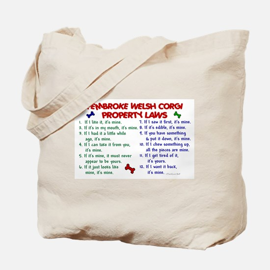 Pembroke Welsh Corgi Property Laws 2 Tote Bag