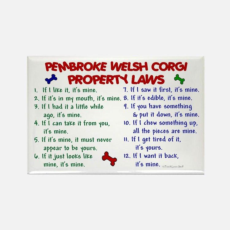 Pembroke Welsh Corgi Property Laws 2 Rectangle Mag