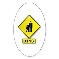 Corrections Officer XING Oval Decal