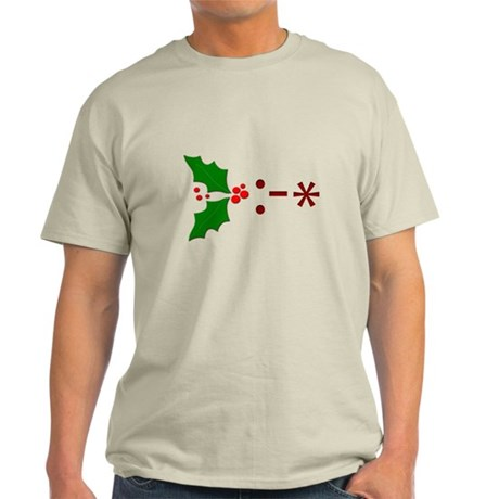 Kiss Emoticon - Mistletoe Light T-Shirt