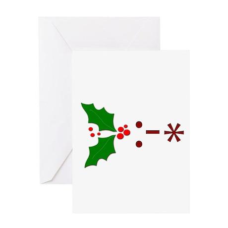 Kiss Emoticon - Mistletoe Greeting Card