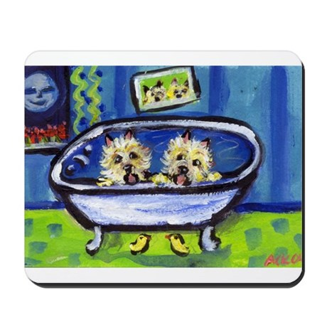 CAIRN TERRIER bath Design Mousepad