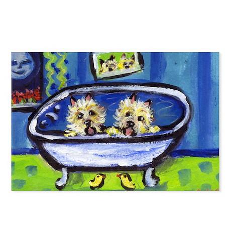 CAIRN TERRIER bath Design Postcards (Package of 8)
