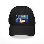 CHIHUAHUA moon Design Black Cap