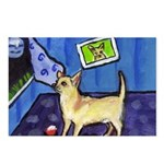 CHIHUAHUA moon Design Postcards (Package of 8)