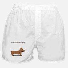 Naughty Wiener Boxer Shorts