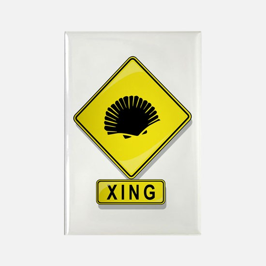 Clam XING Rectangle Magnet