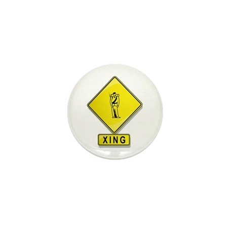 Civil War Reenactor XING Mini Button