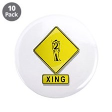 "Civil War Reenactor XING 3.5"" Button (10 pack"