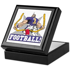 Football! Purple Uniform Keepsake Box