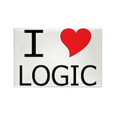 I Heart Logic Rectangle Magnet