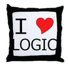 I Heart Logic Throw Pillow