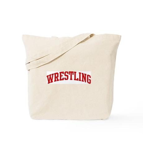 Wrestling (red curve) Tote Bag