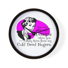 Cold Dead Fingers Wall Clock