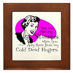 Cold Dead Fingers Framed Tile