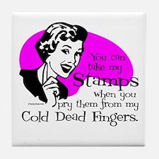 Cold Dead Fingers Tile Coaster
