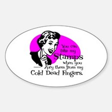 Cold Dead Fingers Oval Decal