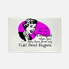Cold Dead Fingers Rectangle Magnet