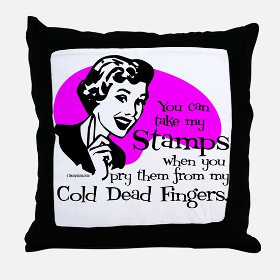 Cold Dead Fingers Throw Pillow