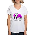 Cold Dead Fingers Women's V-Neck T-Shirt