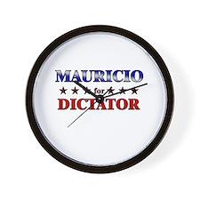 MAURICIO for dictator Wall Clock