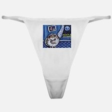 HEDGEHOG whimsical art Classic Thong