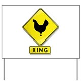 Chicken xing Yard Signs