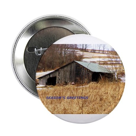 """Holiday Outbuilding 2.25"""" Button (100 pack)"""