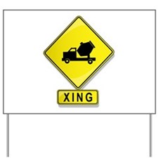 Cement Truck XING Yard Sign