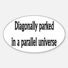 Diagonally Parked Oval Decal