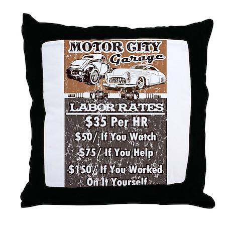 MC GARAGE Throw Pillow