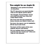 You Might be an Aspie Poster