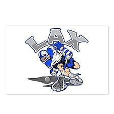 Lacrosse Player Blue Uniform Postcards (Package of