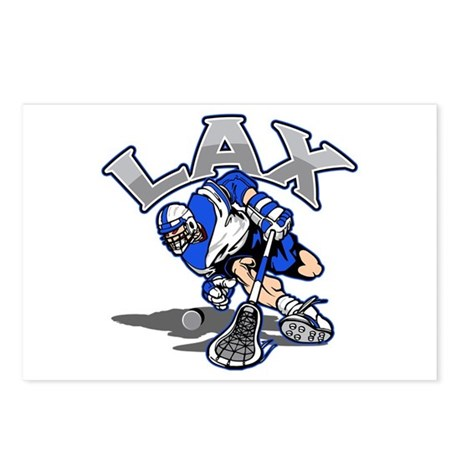 Lacrosse Player In Blue Postcards (Package of 8)